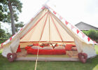 3/4/5/6M Waterproof Canvas Bell Tent Awning Glamping Camping Tent stove Jack