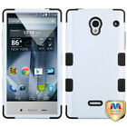 For Sharp Aquos Crystal Impact Hard Hybrid TUFF Case +Silicone Protector Cover