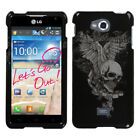 Two Piece Hard Snap on Design Protective Cover Case for LG MS870 Spirit 4G
