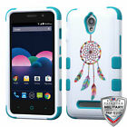 For ZTE Obsidian TUFF Hybrid Rugged Phone Impact Protector Case Cover