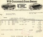 June 16, 1943 W.W. Gleckner & Sons Company Harness and Collars paper invoice