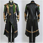 Thor The Dark World Avengers Loki Halloween Uniform Suit Outfit cosplay Costume