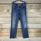 Calvin Klien Womens Straight Stretch Blue Jeans Size 8