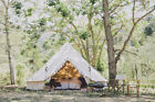 3M Waterproof Canvas Bell Tent Glamping Hunting Camping Tent Family Yurt