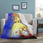 Ultra-Soft Micro Fleece Custom Beauty and the Beast Throw Blanket image