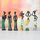 Elegant African Beauty Lady Decorative Women Stand Statue Decor Resin Figurine, used for sale  Shipping to Nigeria