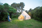 3M Waterproof Canvas Bell Tent Awning Fly Glamping Camping Tent Yurt Stove Jack