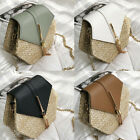 Women Summer Straw Shoulder Bags Rattan Bag Woven Beach Crossbody