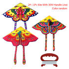 1Set 90*50cm butterfly printed long tail kite outdoor kite toy with handle NWUS