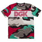 DGK Men's Excursion Soccer Jersey Short Sleeve T Shirt Camo Multi Clothing