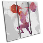 Crossfit Gym Fitness Lifting Sports TREBLE CANVAS WALL ART Picture Print