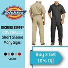 Dickies Men's Short Sleeve Coveralls Comfort Elastic Waist Work Men's Big  Tall