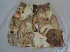 Vtg PRIDE Wolf Wolves Lupine Stretch Shorts Tyvek Swimming Trunks Rare Sz S L XL