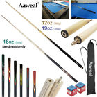 "58"" WOODEN POOL SNOOKER BILLIARD CUE SET Cues with Screw Tips Stick 19oz/18oz $27.89 AUD on eBay"