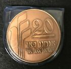 """Israel's State Medal Coin """"We are Here"""" / """"Let My People Go""""  60mm Copper #866"""