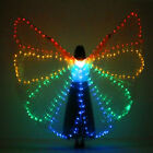 New LED Isis Wings + 2 Telescopic Sticks Belly Dance Costumes Shining