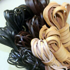 2Yards 2-10mm Flat Cow Leather Cord Bracelet Necklace Findings Rope String Diy