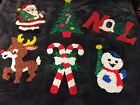 Vintage Melted Plastic Popcorn Collectible Christmas Decoratios Lot Of 6
