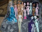 A LOT OF DOLLS MOSTER HIGH DOLLS AND BARBIE