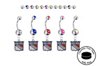 New York Rangers Silver Belly Button Navel Ring - Customize Gem Color - NEW $9.99 USD on eBay