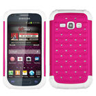 Bling Rhinestone Cover +Impact Silicone Case for Samsung Galaxy Prevail 2 Ring