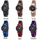 US Women Fashion Watch Starry Sky Crystal Magnetic Stainless Band Wrist Watch image