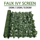 1*5m Artificial Ivy Leaf Fence Green Garden Yard Privacy Screen Hedge Plants