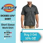 Dickies Original Work Shirt 1574 Men's Button Up Dress Wrinkle Resistant Uniform <br/> EXTRA 10% OFF 3+ ITEMS!! SAME DAY SUPER FAST SHIPPING!!