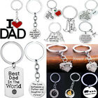 Family Friends Teacher Inspire Keyring Dog Paw Heart Keychain Mom Dad Daughter