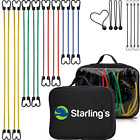 Starling's Bungee Cords with Hooks – Heavy Duty Bungie Straps Assortment Set of