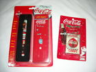 Collectible Coca Cola NIP Writing Pen Metal Case & Small Playing Cards Key Chain