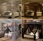 4 Corners Post Bed Canopy Curtain Mosquito Net Or Frame Twin Full Queen King  image