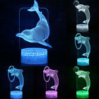 3D LED Cartoon Dolphin Night Light Multi Color Change Table Desk Lamps Kids Gift