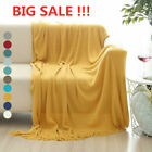 Soft Knit Throw Blanket Warm Sofa Bed Chair Couch Cover Home Office Holiday image
