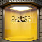 SUMMER CLEARANCE Shop Window Sticker Stock Sale Retail Display Sign Vinyl Decal