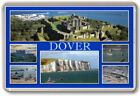 FRIDGE MAGNET - DOVER - Large - Kent TOURIST