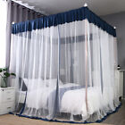 4 Corners Post Curtain Bed Canopy Bedroom Frame Canopies Net Wedding Decoration image