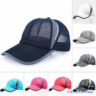 Womens Mens Mesh Breathable Trucker Hat Golf Climbing  Hiking Visor Baseball Cap