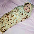 Baby Super Soft Burrito Blanket Throw Tortilla Texture Fleece Throw Blanket USA image