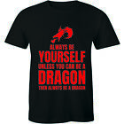 Always Be Yourself Unless You Can Be A Dragon Funny Slogan Quote Tee Mens Tshirt