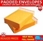 GOLD PADDED BUBBLE ENVELOPES BAGS POSTAL WRAP - ALL SIZES - ***TRADE PRICES***