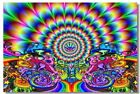 Poster Psychedelic Trippy Colorful Ttrippy Surreal Abstract Digital Art Print 1