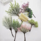 Fake Artificial Grass Flowers Plants Diy Decoration Bouquet Leaves Home Decor