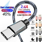 USB-C 3.1 Type-C Fast Data Sync Charging Charger Cable For Android Mobile...