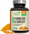 Turmeric Curcumin w/ Ginger and Bioperine 2600mg Vegan Joint Relief Made in USA $21.92 USD on eBay