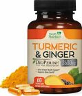 Turmeric Curcumin with Ginger 2600 mg High Absorption Extra Strength Capsules