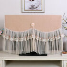 Home Hanging Wall Mounted LCD TV Dust Covers Flower Lace Dustproof Covers G