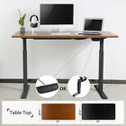 Height Width Adjust Electric/Manual Standing Desk Frame Computer Table Desktop
