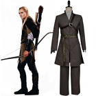 The Hobbit Lord of the Rings Elf Legolas Greenleaf Cosplay Costume Outfit Set