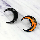 Fashion Crescent Moon Wedding Party Brooch Pin Enamel Lapel Collar Pin Dreamed